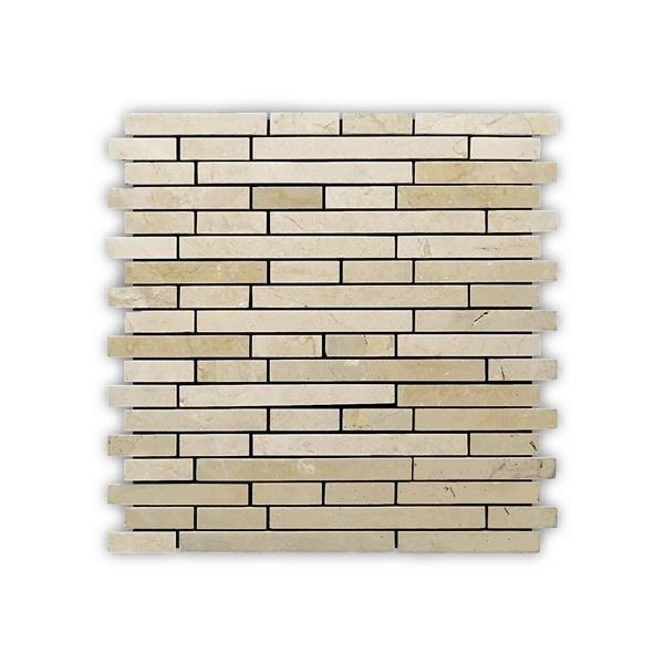 JL Tile Marble Mosaic Wall Tile - 5/Box - 12-in x 12-in