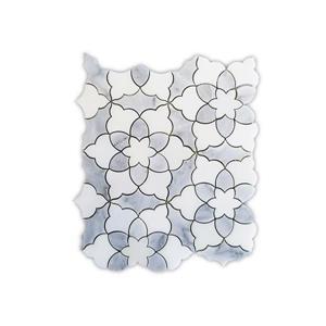 Eden Rose Marble Mosaic Tile - Grey - 5/Box - 10.6