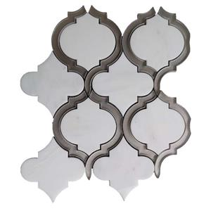 White Arabesque Marble Tile - 5/Box - 10