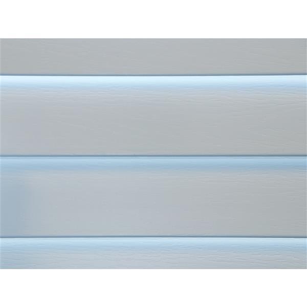 """Store horizontal sans corde, 2"""" x 20.5"""" x 72"""", blanc"""