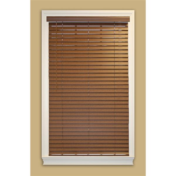 "allen + roth Cordless Horizontal Blind -  2"" x 62.5"" x 64"" - Dark Oak"