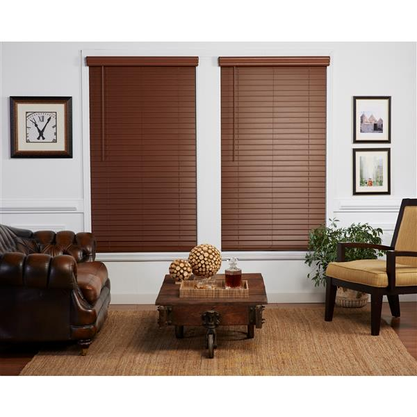 "allen + roth Cordless Horizontal Blind -  2"" x 22"" x 48"" - Dark Oak"