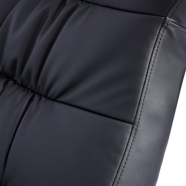 FurnitureR Recliner with Ottoman Calan - Black