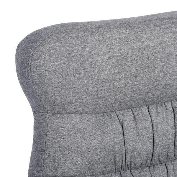FurnitureR Recliner with Ottoman Calan - Grey