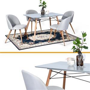 Table de salle à manger London S, grise, 43 po