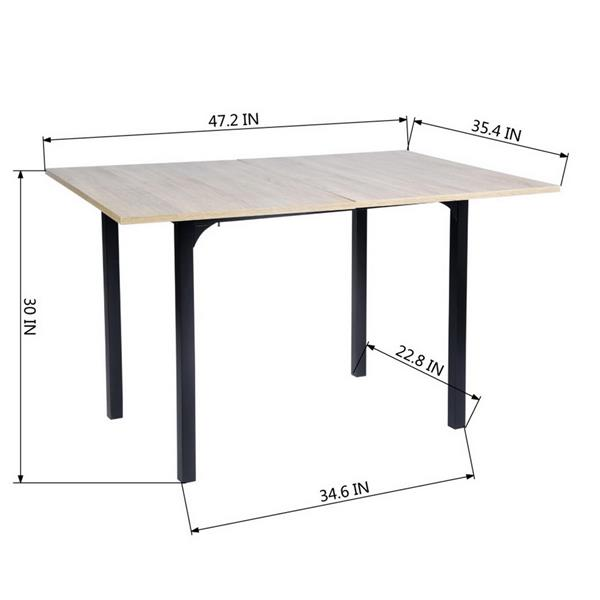 FurnitureR Dining Table  Marlowe Hm Lmkz - Wood and Black