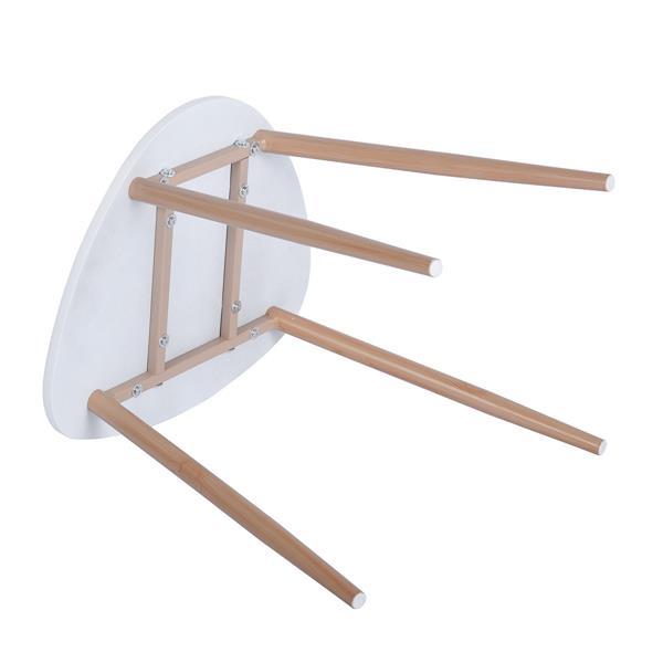 Tables d'appoints FurnitureR blanches et bois, ens. de 2