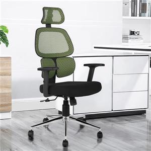 Chaise de bureau en maille avec dossier haut, vert