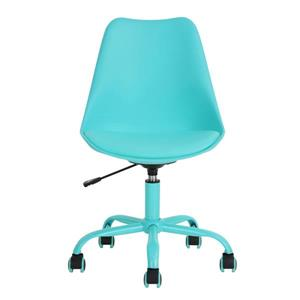 Chaise de bureau avec hauteur réglable, turquoise