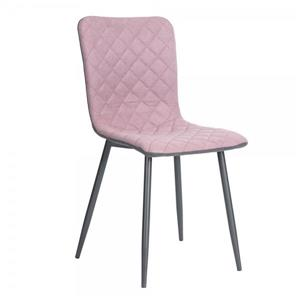 FurnitureR Dining Chair - Pink/Black/Grey - Set of 4