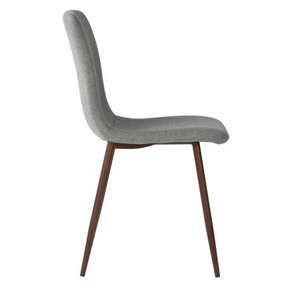 FurnitureR Dining Chair Set of 4, Grey