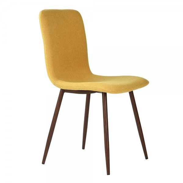 FurnitureR Dining Chair Set of 4, Yellow