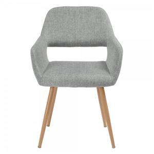 Chaise d'appoint ou de salle à manger, gris/bois