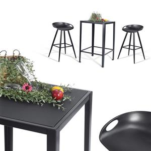 FurnitureR Groveland Square Dining Table- Black - 23""