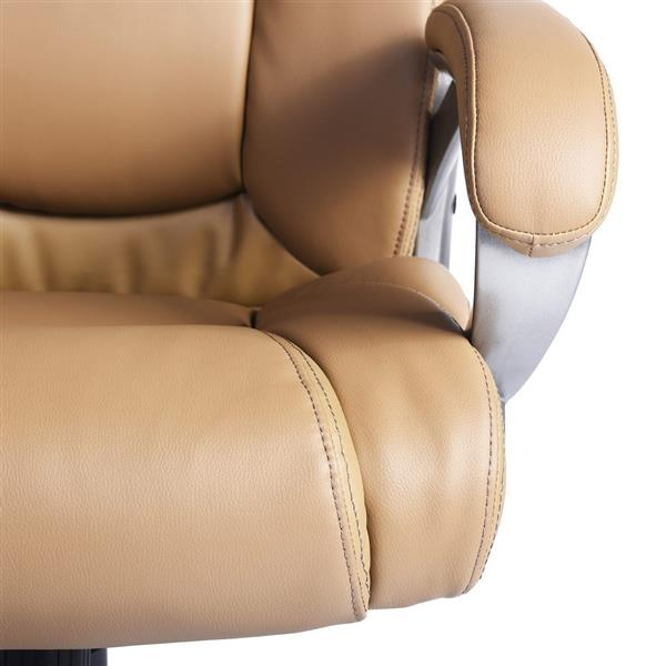 FurnitureR Boss Office Chair - Tan and Chrome