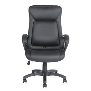 Chaise de bureau FurnitureR à haut dossier, noire