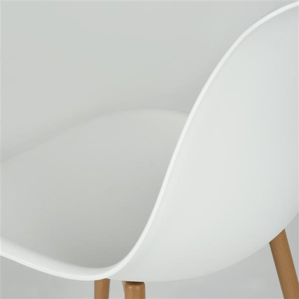 Chaise de salle à manger Charlton, blanche