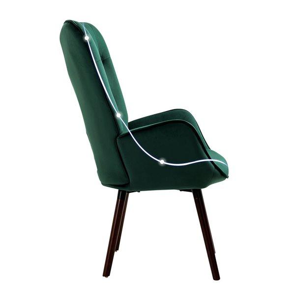 Fauteuil d'appoint capitonné Furniture R, gris