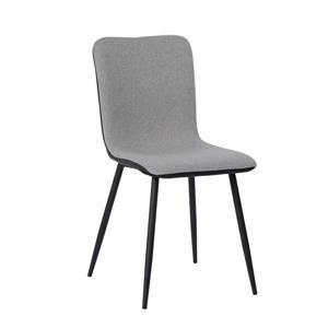 Chaise de salle à manger Scargill, grise et noire, ens. de 4