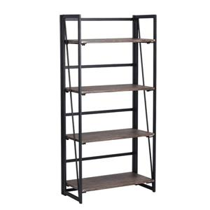 FurnitureR Backer Bookcase with 4 shelves - Unfixed