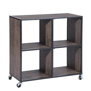 Montaury Movable Wooden board Bookcase - 4 sections.