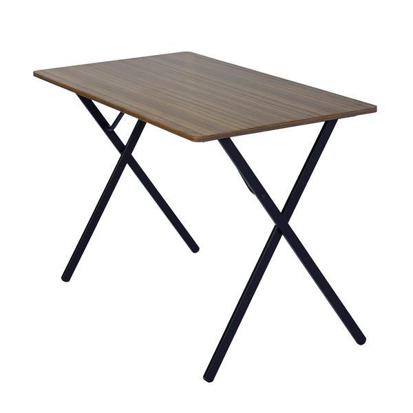 FurnitureR Broca Cumputer Table - Wood and Black Metal