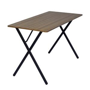 FurnitureR Broca Cumputer Table - Wood and Black Metal