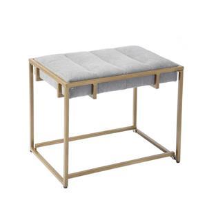 Banc d'appoint FurnitureR Cowan, velours gris, 22 po  x 19 po