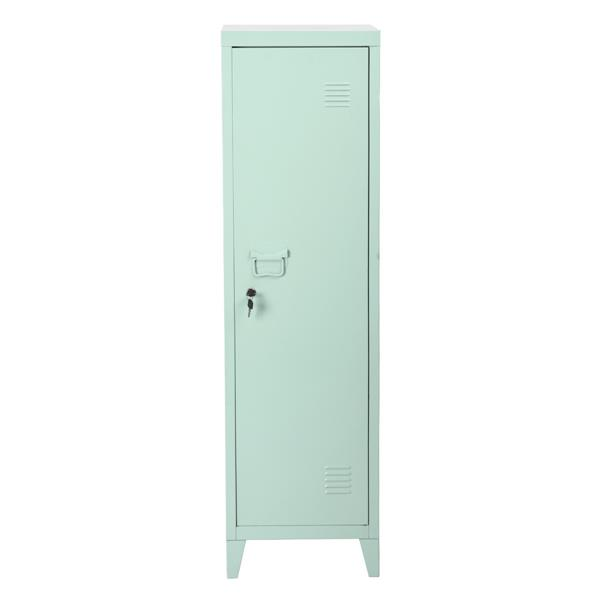 FurnitureR Councilbluffs Metal Cabinet/Locker -  Green - 54.1-in