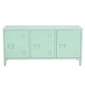 FurnitureR Storage Cabinet 3-Door Metal File locker - Green - 47.2-in