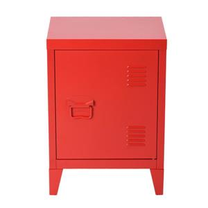 FurnitureR Graves Solo Metal Cabinet - Red - 22.6-in
