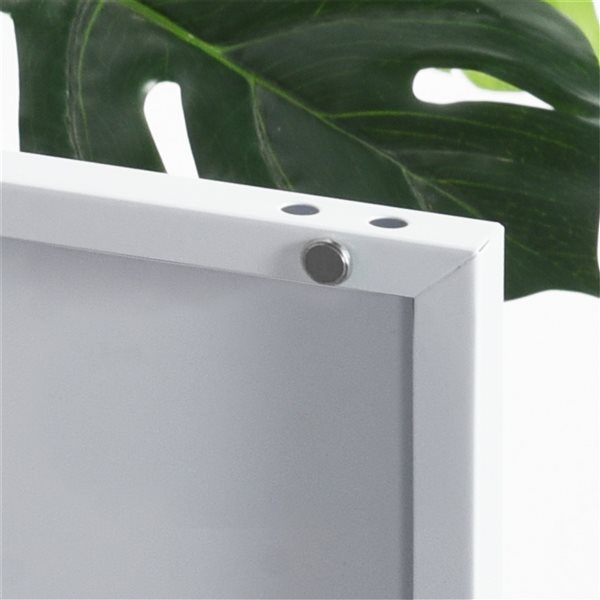 FurnitureR Graves Solo Metal Cabinet - White - 22.6-in