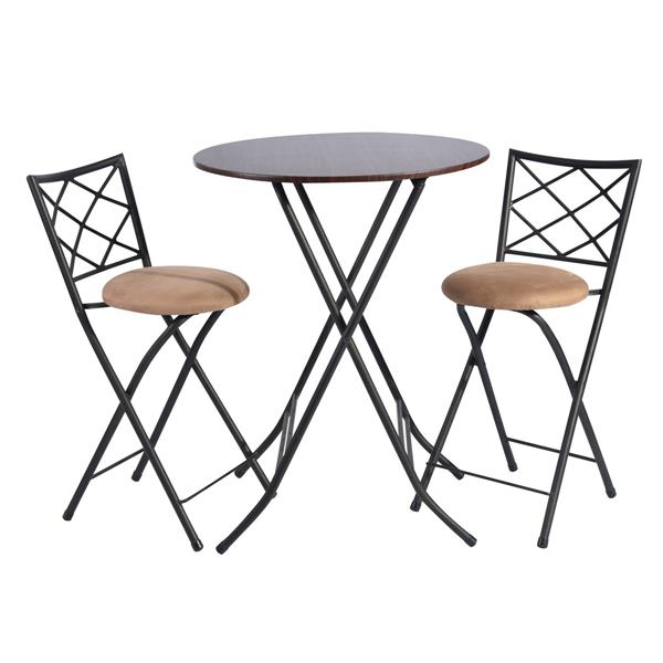 Furniturer Folding Bar Set Kitchen Dining Table - 2 Chairs. 0300300008047