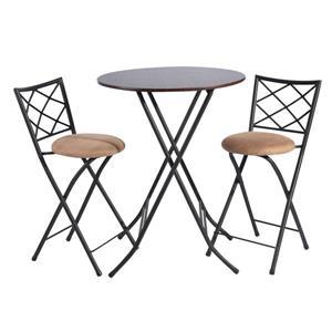 Ensemble de salle à manger Furniture R, table pliante bistro, 2 chaises