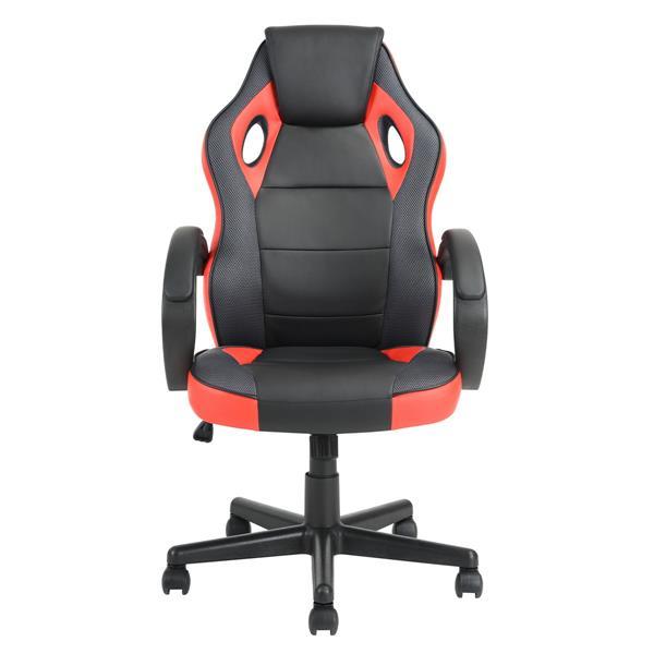 Chaise de jeu/bureau FurnitureR, noire et rouge