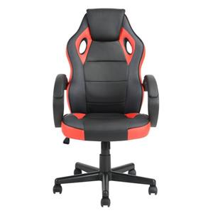 FurnitureR Office/Gaming Chair with Casters - Black/Red