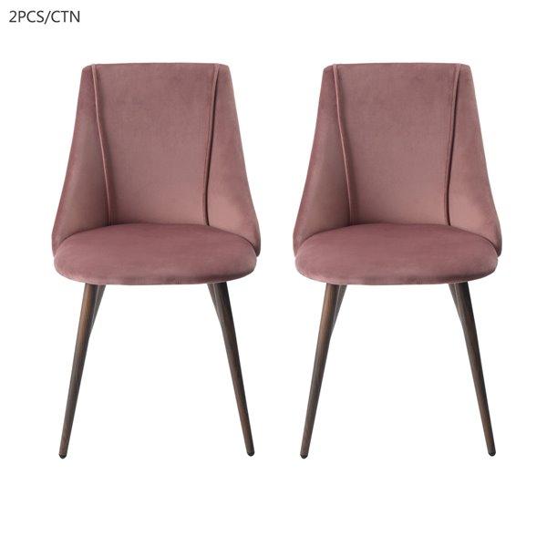 FurnitureR Modern Dining Chair- Rose - Set of 2