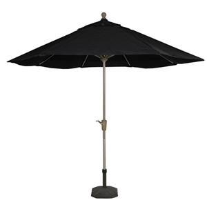 Northlight Crank Tilt Patio Market Umbrella - Champagne and Black