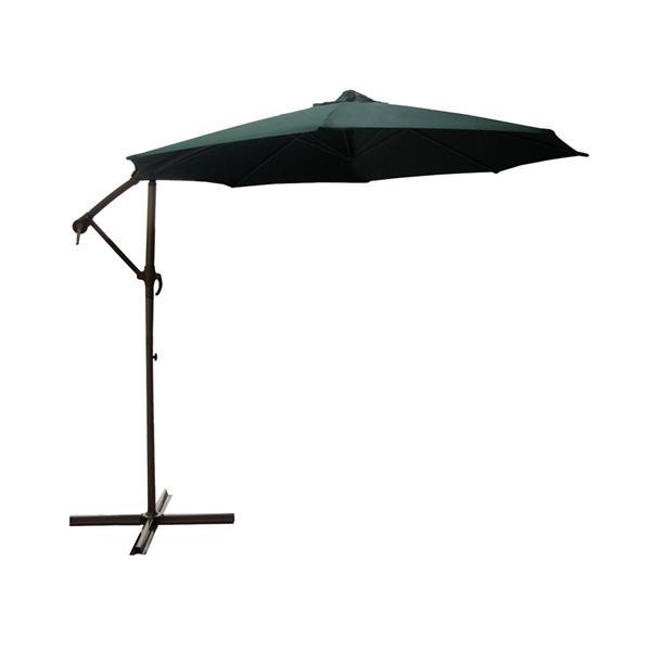 Northlight Outdoor Patio Off-Set Crank and Tilt Umbrella - Green - 10'