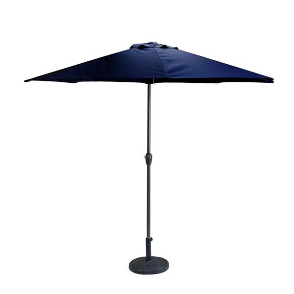 Northlight Patio Market Umbrella with Hand Crank and Tilt  Navy Blue