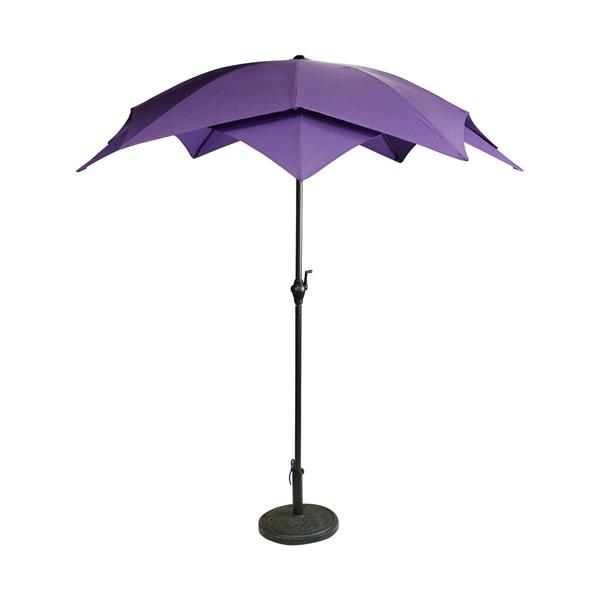 Northlight Outdoor Patio Lotus Umbrella with Hand Crank  Purple - 6.5'