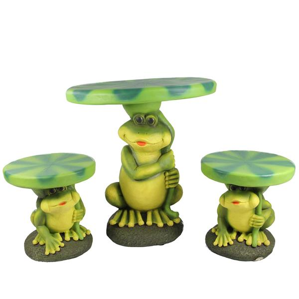 Northlight Frog and Lily Pad Children's Patio Furniture Set - 3-Pcs