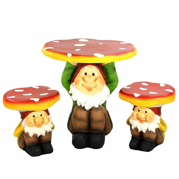 Northlight Jolly Gnome Table/Chair Children's Furniture Set - 3-Piece