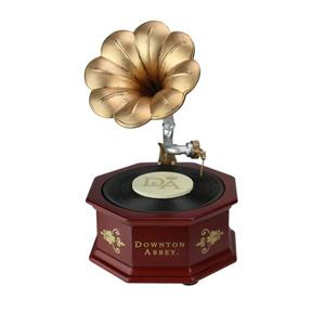 Northlight Downton Abbey Animated Musical Phonograph - Brown and Gold