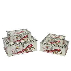Northlight Vintage-Style French Fashion Wooden Storage Boxes - Set of 4