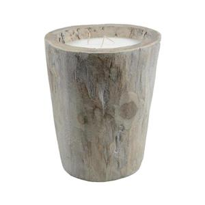 Northlight Rustic Chic Giant Wooden Log Triple Wick Wax Pillar Candle