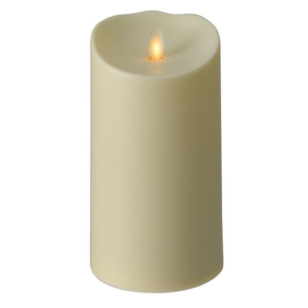 Northlight Off-White Luminara Flameless LED Lighted Pillar Candle