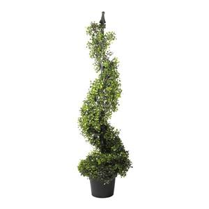Northlight Potted Two-Tone Boxwood Topiary - Unlit - 46.5""