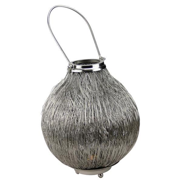 "Northlight Urban Life Silver Tea Light Candle Holder Lantern- 18.5"""
