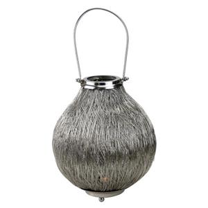 Northlight Urban Life Silver Tea Light Candle Holder Lantern- 18.5""